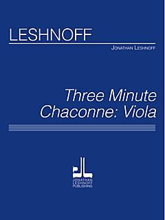 Three Minute Chaconne / Vla